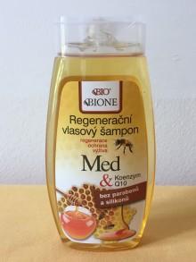 Regenerační vlasový šampon Med + koenzym Q10