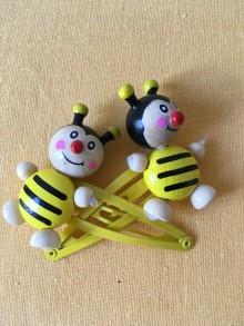 Sponky do vlasů včelky